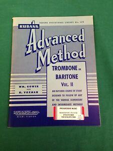 Rubank Advanced Method - Trombone or Baritone, Vol. 2 (Paperback)