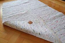 Grand Tapis Blanc Pastel Chindi Usé Chic Doux Coton Artisanal 180x240cm 6x8 Neuf