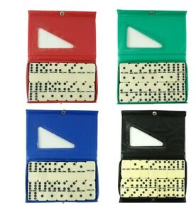 Double Six Club Pub Dot Dominoes Game Set - 28 Double 6 Dominoes Set PVC Case