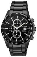 Citizen Men's Quartz Chronograph Black Multi Dial Bracelet 42mm Watch AN3645-51E