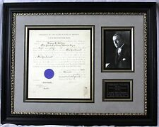 Woodrow Wilson - Document Signed as President; DS, Signature, Autograph, Framed