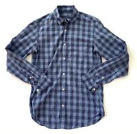 J Crew Lightweight Blue Plaid Button Down Casual Shirt Mens Size X Small XS