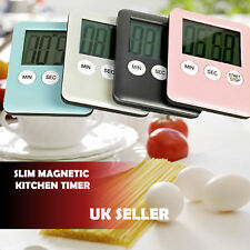 Slim Magnetic LCD Digital Kitchen Timer Countdown Cooking Multi Purpose Alarm