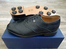 NEW FootJoy 1857 Golf Shoes Mens 9.5D Black Shield Tips -Exclusive Classics