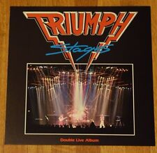 "Triumph ""Stages"" Original Record Store Promo Album Flat Art Poster RARE"