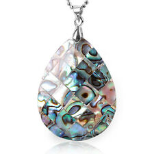 Paua Abalone Shell Teardrop Drop Flatback Pendant Charms Necklace Jewellry Gifts