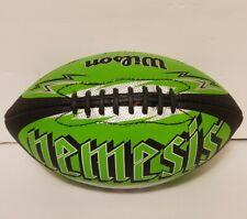 Wilson junior Football Nemesis Black Lime Green Silver