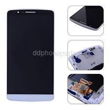 White LCD Screen Touch Digitizer Bezel Frame Assembly For LG G3 D855 D850 VS985