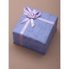 NUOVO Pastello Lilla Fiocco Anello Nuziale Casella (non imballato piatto) 5x5x3.5cm