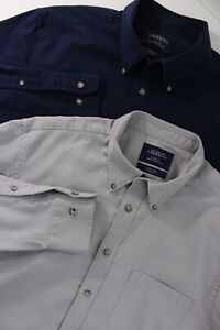 Charles Tyrwhitt Weekend Mens Large L Slim Fit Button Front Long Sleeve 2 Lot