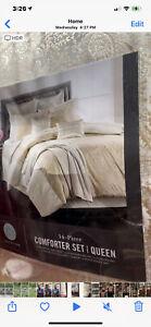 Martha Stewart 14 Piece KING Comforter Set Velvet Paisley Jacquard Damask 165
