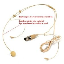 Dual Ear Hook Head Microphone Headset 4pin Mini TA4F Plug for Shure Wireless XLR