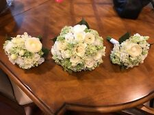 Custom Bridal Bouquets, White And Green