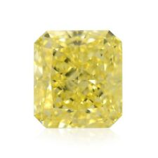 Yellow Diamond  - 3.01ct Natural Loose Fancy Intense Yellow GIA VS2 Radiant