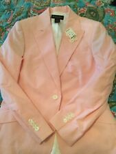 NEW Brooks Brothers Women's Pink Seersucker 100% Cotton Blazer - 8