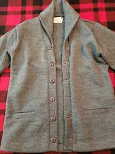 Dehen 1920 Shawl Collar Cardigan Sweater Charcoal Size Large