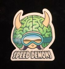 1 speed demon skateboard Sticker Brainiac Big Head 1997 World Industries