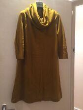 BNWT COS Cowl Neck Mustard Yellow Merino Wool Dress UK size S