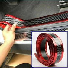 5cm*100cm Car DIY Door Sill Protector Edge Strip Decorative Sticker Carbon Fiber