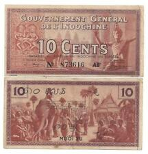 FRENCH INDO CHINA 10 CENTS 1939 EF P 85 c