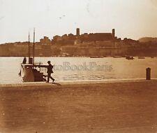 Cannes France Plaque M4 Stereo Vintage Positif 6x13cm