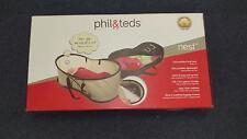 Phil & Ted's NEST ~ Portable Baby Bed & Bassinet ~ Beige/Black (Z0)