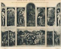 van Eyck: Genter Altar 1894 orig. aufklappbare Ganztafel Gent Berlin Brüssel