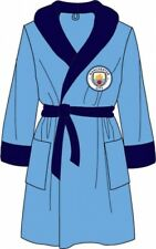 Mens Official Manchester City Football Club Fleece Dressing Gown/Robe