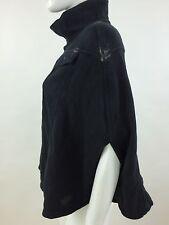 RPP 110£ Diesel Women's Fedusa Overcoat Kimono Color Black Size XS 00BYF