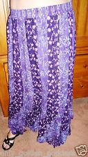 purples bias maxi skirt 2X 3X 4X plus size design zb386