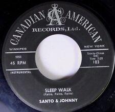 "SANTO & JOHNNY~""SLEEP-WALK""~ CANADA ORIG. 1959 ~""VG+/VG""~ 45!!!"
