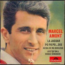 MARCEL AMONT LA JAGUAR / PO PO PO DIS 45T EP BIEM POLYDOR 27.176 DISQUE NEUF