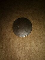 1804  draped bust half cent crosslet 4, stems fine