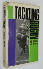 Tackling Rugby by Ken Thornett, Hardback + jacket 1st Edition Signed Copy