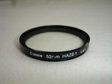 CANON  52mm  HAZE-1  filter .   ( UV ) U.S.A.