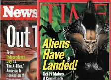 INDEPENDENCE DAY LOT OF 2 MAGAZINES - TIME & NEWSWEEK BOTH JULY 8, 1996 (VF)