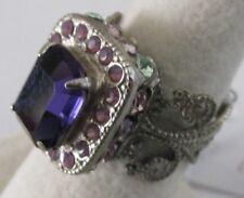 Sorrelli African Violet Ring RCL5ASAFV antique silver tone