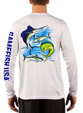 Men's UPF 50 Long Sleeve Microfiber Performance Fishing Shirt Gamefish