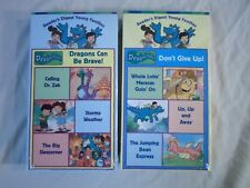 New ! Lot of 2 Dragon Tales VHS Don't Give Up & Can Be Brave PBS Learning Time
