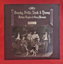 Crosby Stills Nash & Young DEJA VU Vinyl Record 1970 Atlantic Recording Co Vtg