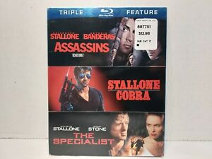 ASSASSINS~COBRA~THE SPECIALIST Blu-ray Disc, 2012 3 Disc Set Sylvester Stallone