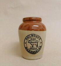 Vintage Hailwood's Rich Cream Manchester Pot Jar VGC !
