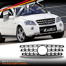 Chrome Black AMG ML63 Style GRILLE GRILL for Mercedes-Benz ML Class W164 09-12