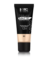 NYC Natural Matte Foundation Anti Shine Effect Up To 12Hr 001 Ivory 30ml x 2 New