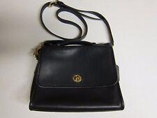 Vintage Coach 9870 Crossbody Court Shoulder Bag Black Satchel Purse