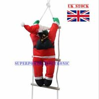 CLIMBING SANTA WITH ROPE LADDER CHRISTMAS XMAS DECORATION INDOOR OUTDOOR