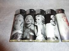 MARILYN MONROE CIGARETTE LIGHTERS SET OF 5
