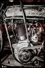 12x18 in Poster Vintage Harley Davidson Motorcycle, Garage Art Man Cave