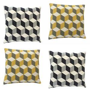 Hand made Decorative Geometric Cube cushion cover