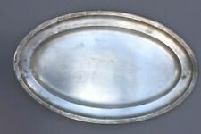 Große ovale Silberplatte , Platte versilbert - Reneka
